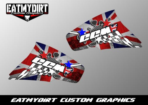 FOR CCM R604 R644 TANK GRAPHICS DECALS SUPER MOTO MX MOTOCROSS STICKERS
