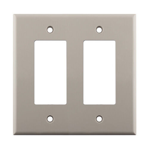 Light Almond Wall Plate Decorative Double Gang Wall Plate