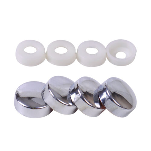 4pcs License Plate Bolt Cap Screw Cover fit for Car Truck Motorcycle Plate Frame