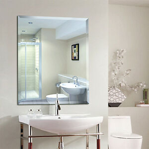 New 500x400mm Bathroom Frameless Mirror Beveled Edge With