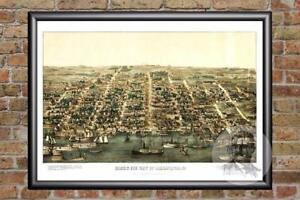 Vintage-Alexandria-VA-Map-1863-Historic-Virginia-Art-Old-Victorian-Industrial