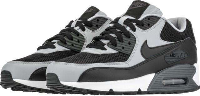 Hommes Nike Air Max 90 Essential Running Chaussures -Wht  Gris / Noir -Wht Chaussures NIB 8-12 537384-053 e6b5a6