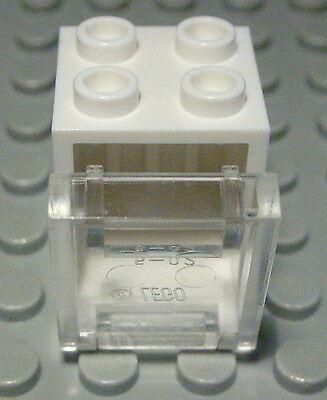 Lego Schrank 2x3x2 Weiss mit Transparenter Hellblauer Tür 2477