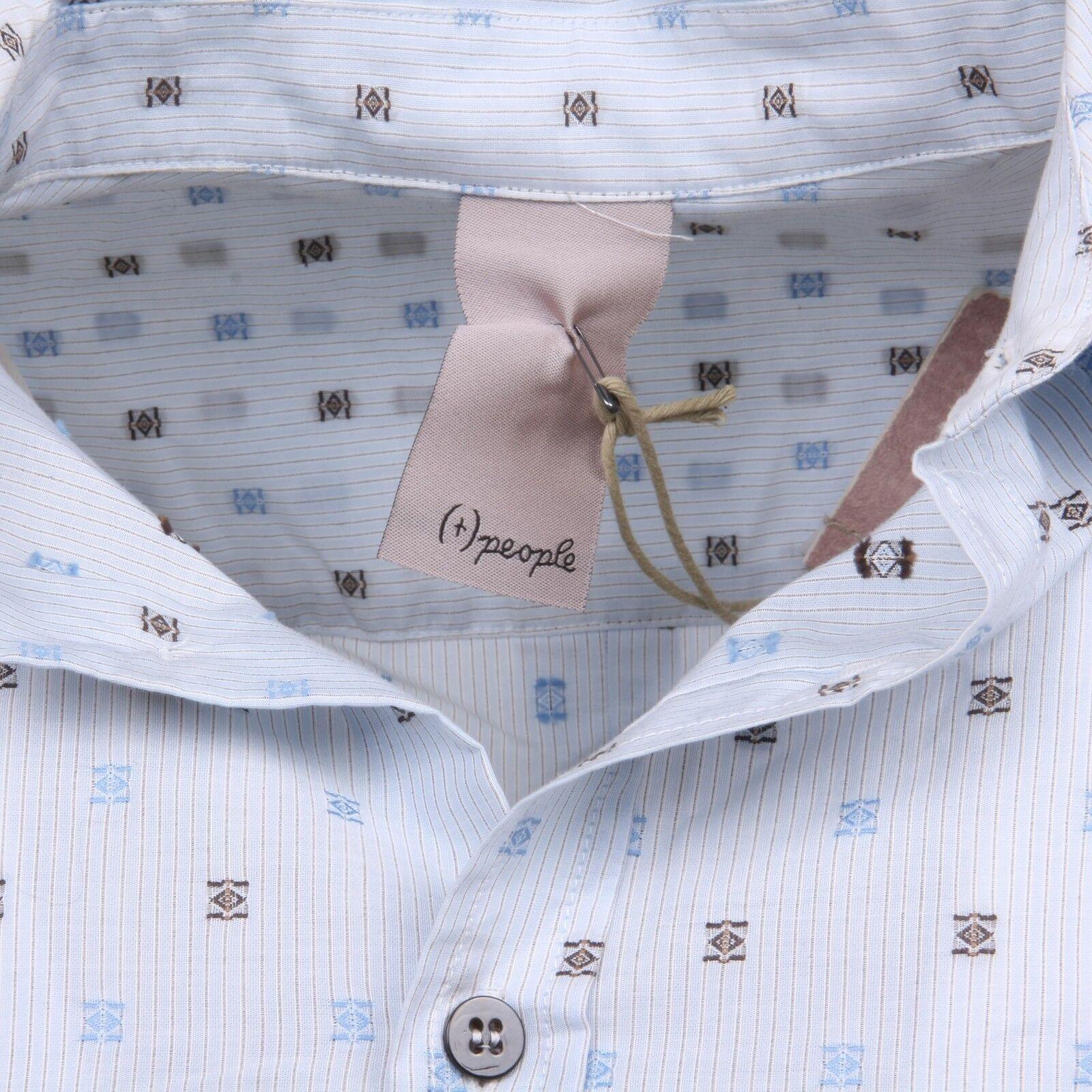 C0880 camicia uomo (+) PEOPLE TIZIANA azzurro manica manica manica lunga shirt men 639eee