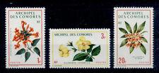 FLEUR Comores 3 val P de 1971 - FLOWER BLUME FIORE Comoros Komoren