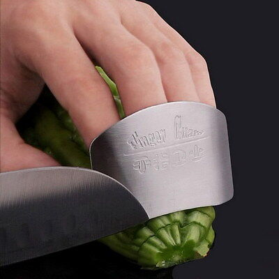 Stainless Steel Finger Hand Protector Guard Chop Safe Slice Knife Tool Simple H
