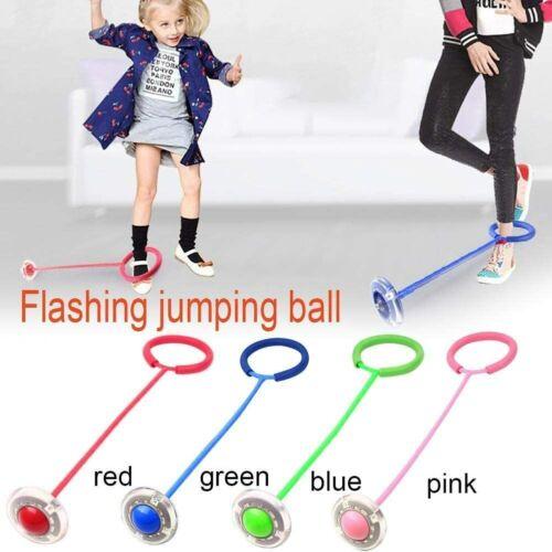 LED Flashing Jumping Ring Ankle Skip Rope Sport Swing Ball Springseile Spielzeug