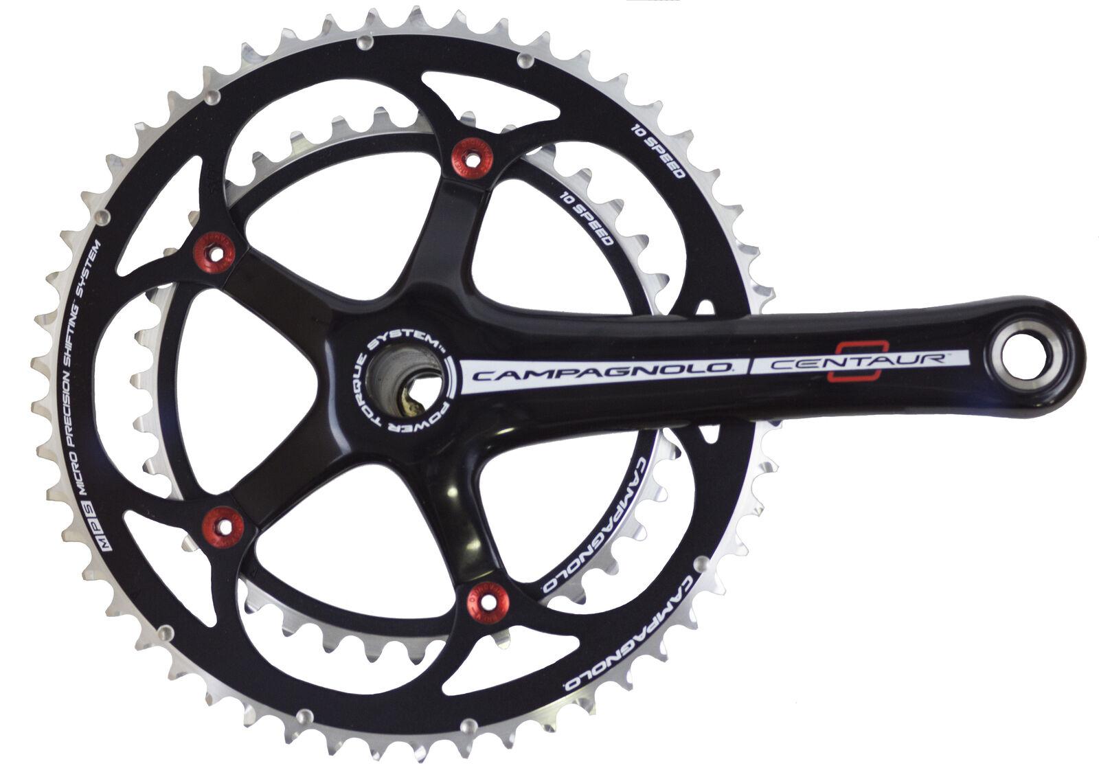 Campagnolo Centauro Negro Rojo Power-Par De Torsión 10 velocidad doble compacto 34 50 - 172.5mm