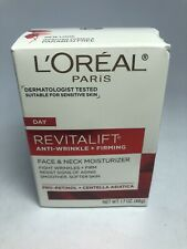 L'Oreal Day Revitalift Face & Neck Anti-Wrinkle & Firming Moisturizer 1.7 oz