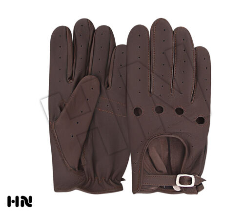CLASSIC DRIVING GLOVES SOFT LEATHER MENS MOTORBIKE CHAUFFEUR BUS FASHION VINTAGE