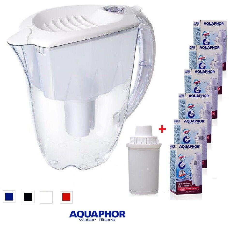 AQUAPHOR IDEAL Water Filter Pitcher Jug White 2.8L 6 Replacement cartridges 1