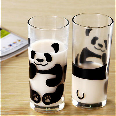 Creative Milk Cup Tea Cup Cute Panda Glass Cup Mug Cup