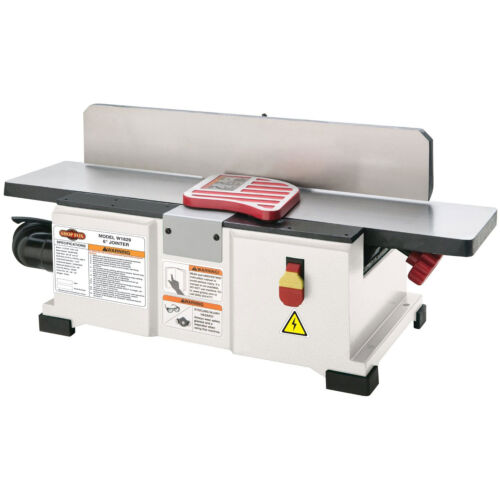Shop Fox W1829 1-1//2 HP 110V 6-inch Fully Adjustable Benchtop Jointer