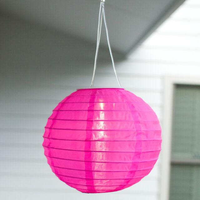 Solar Powered LED Hanging Chinese Lantern Garden Patio Light, 4 Colour Choice