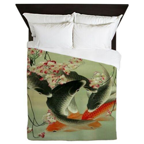 1649812654 CafePress Zen Japanese Koi Fish Queen Duvet