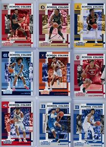 2019-20 Panini Contenders Draft Picks - School Color Inserts - Pick Your Players