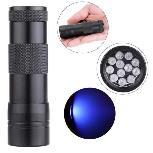 Alluminio UV Ultra Violetto 9 LED Luce Nera AAA Torcia Elettrica Luce Lampada UK