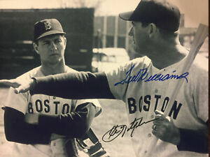 TED-WILLIAMS-Carl-Yastrzemski-8-x10-Autographed-Signed-Photo-Red-Sox-REPRINT