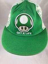 item 2 Super Mario Hat Get A Life Mushroom Green Flat Brim Fitted Nintendo  Size SM -Super Mario Hat Get A Life Mushroom Green Flat Brim Fitted  Nintendo Size ... acc598cea153