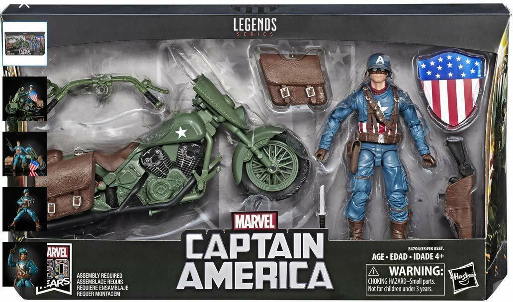 Marvel Legends Series CAPITAN AMERICA CON MOTONUOVO