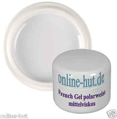 5ml UV French-Gel, Nail, mittelviskos, mit Blautouch, Polar-Weiss, Weiß
