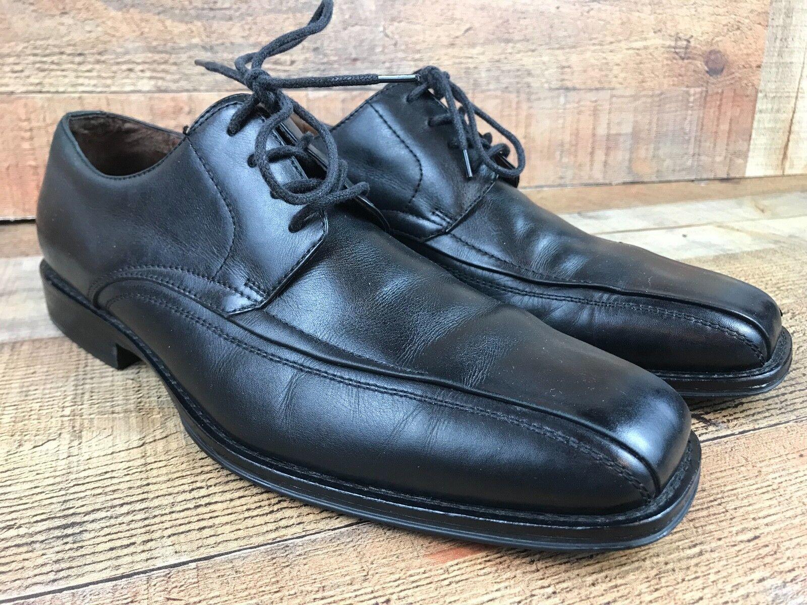 Johnston & Murphy Men's Black Oxford Moc Size Toe Dress Shoes - Size Moc 9.5 M db9d0a