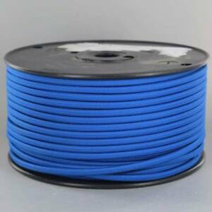 BLUE ~ 2 WIRE Parallel ~ Antique Style Fabric Lamp Wire ~ Cord ~ 25/' Roll