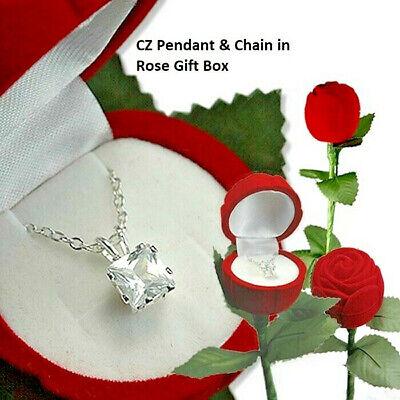 Or Rose Titane Acier Inoxydable Zircone cubique Cœur Tassel Pendants d/'Oreilles Boîte Cadeau PE9