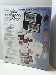 Creative-Memories-Collection-Printed-Photo-Mounting-Paper-34-Sheets-10X12-New