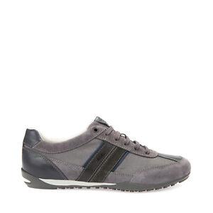 Geox uomo sneakers blu o grigio U52T5C scarpe in camoscio primavera estate 2018