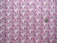 Watercolour floral flowers pink fq 50x56 cm FF167-1 100% Cotton