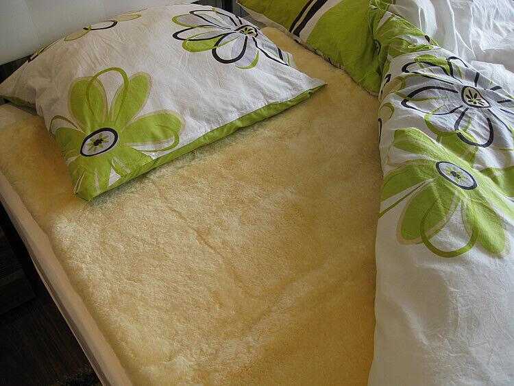 Lammfell Bettauflage Betteinlage Unterbett med. Gerbung Vollfell alle Größen