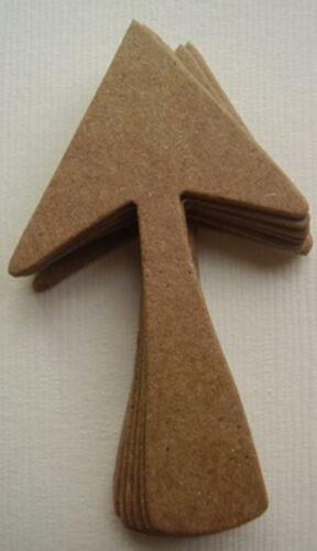 "2 1//8/"" x 1 1//4/"" *ARROWS* Pointed Arrow Chipboard Die Cuts Bare Diecuts 5"