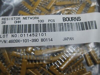 Resistor Networks Arrays 8pins 100Kohms Bussed Pack of 100 4608X-101-104LF