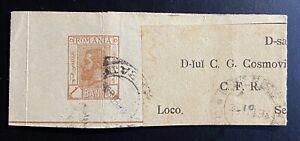 Rumänien Streifband gestempelt Bukarest 1898