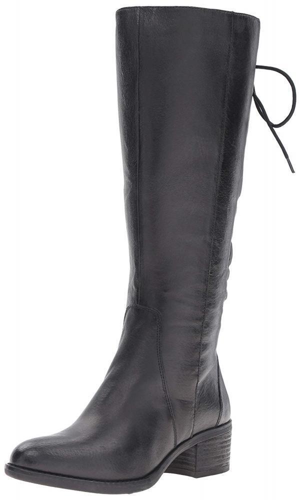 Steve Madden Femme Lacets Western Équitation bottes en cuir Cowgirl Talon Haut