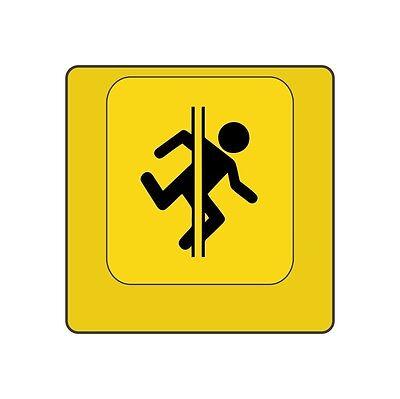 "UV Printed Yellow Cherry MX ""Portal Man"" Keycap Key Cap (Row 4, Size 1x1)"