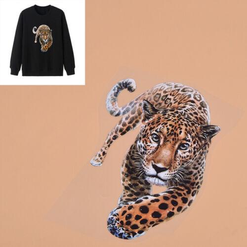 Wärmeübertragung Leopard Muster Neu Aufnäher Aufkleber DIY Handarbeit Shirt Deko