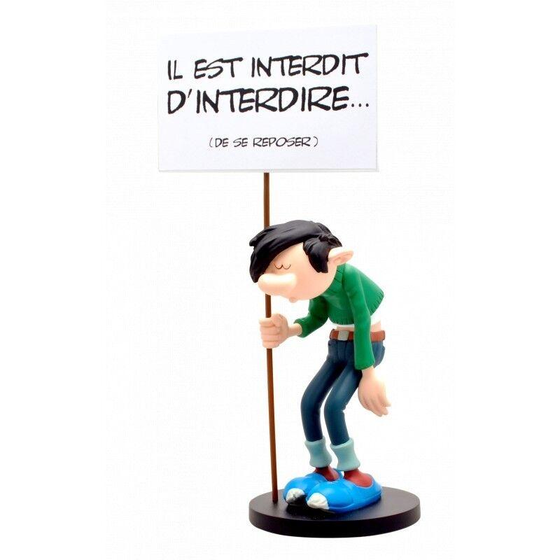 Figurine en résine Gaston Lagaffe panCochete interdit d'interdire COLLECTOYS N°315