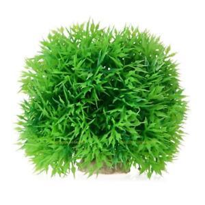 Kuenstlich-Wasser-Kunststoff-Pflanzen-Aquarium-Gras-Ball-Aquarium-Ornament-Dekor