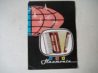 PGH Harmonie Akkordeons  Klingenthal,Katalog//Prospekt  DDR Musikinstrumente,1961
