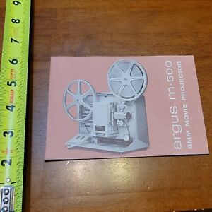 ARGUS M 500 8MM MOVIE PROJECTOR BOOKLET MANUAL OWNERS USER VINTAGE 3