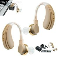 Usb Rechargeable Pair Digital Hearing Aids Amplifier Sound Personal Ear Value