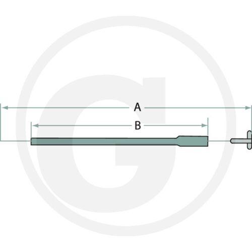 Abstellzug /_ 4,00m /_ motorstop /_ cable Bowden /_ stopzug /_ ausmacher /_ cordón /_ tractor /_ remolcador