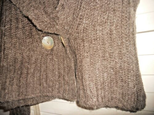 at Ribbed Kunst Pacini Heathered bære Buttonfront Cardigan Brown til Sarah ~ HIYxw