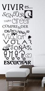Vinilo decorativo #100# VIVIR ES Pegatina stickers