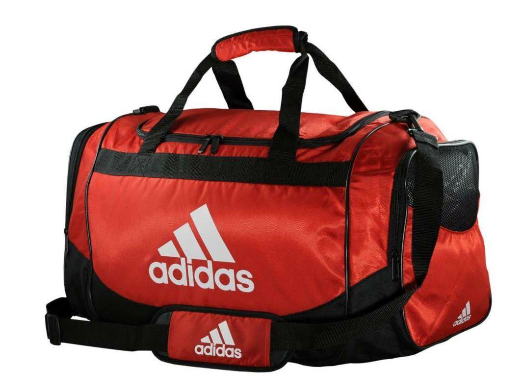 Adidas DEFENDER Training DUFFEL Bag GYM Fitness Soccer Travel Brand New RED