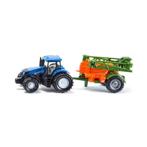 ° Blister Siku 1668 New Holland Traktor mit Feldspritze Modellauto NEU