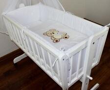 Baby ausstattung für stubenwagen wattiert tlg weiß ebay
