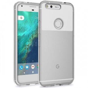For Google Pixel XL SCRATCH RESISTANT SHOCK-PROOF HYBRID ARMOR CLEAR CASE COVER